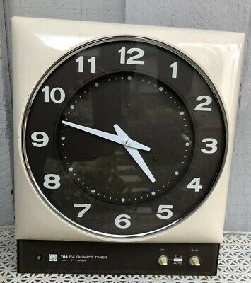 Vintage TOA Office Institutional PA Wall Clock Timer Made In Japan