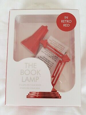 IF The Book lamp tm Retro Red - clip on reading book light