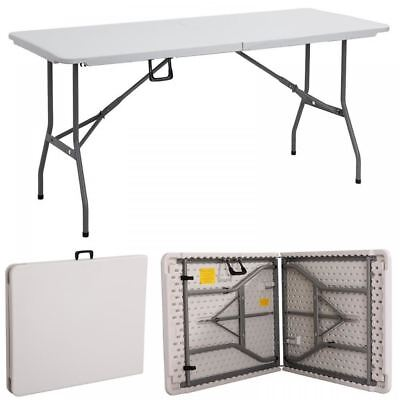 Foldable 6ft Heavy Duty Folding Catering Camping Trestle Picnic Bbq Party Table