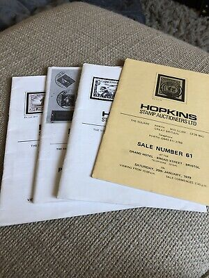 Hopkins Stamp Auction Catalogue  61,62,63,64 1979