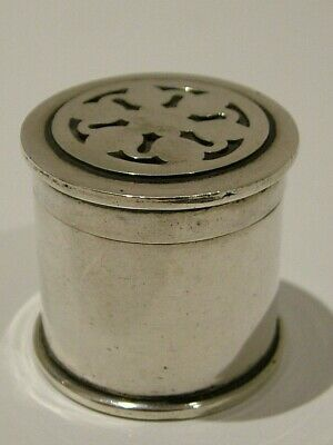 Vintage Solid Silver Novelty Sewing Cotton Reel Thimble Holder Pill Box (1003)