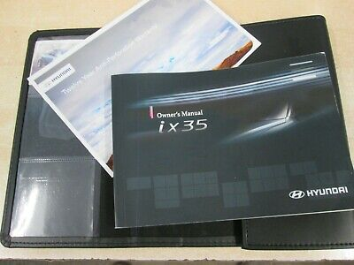 Genuine Hyundai Ix35 Owners Manual Handbook Wallet Audio 2009-2013