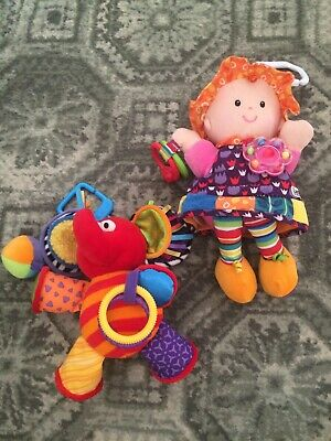 Lamaze Baby Hanging Activity Toy Bundle Emily Doll And Elephant