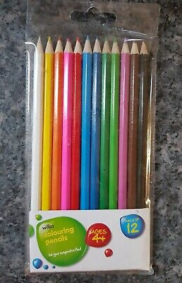 12 Colouring Pencils, Ages 4+ Art, Craft, Creative, Time Out, Stress Busters,...