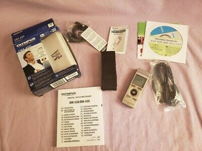 Olympus DM-450 Digital Voice Recorder Dictation Machine Used Boxed Complete