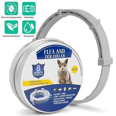 Flea and Tick Collar for Dogs Cats With Adjustable Waterproof 8 Month Protection