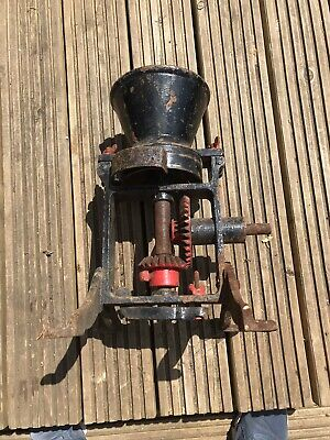 Antique Victorian Flour Grain Coffee Grinding Mill Cast Iron Hand Crank