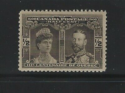 CANADA - #96 - 1/2c QUEBEC TERCENTENARY VF MINT STAMP MLH