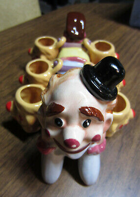 Vintage Clown Decanter with (6) Glasses