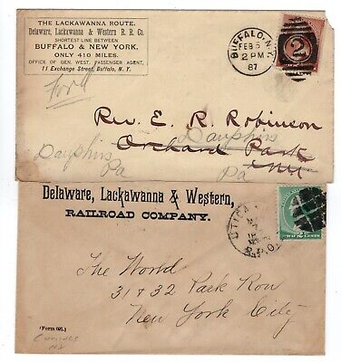 TWO Delaware, Lackawanna & Western Railroad Co 1x RPO & 1x Buffalo NY #210