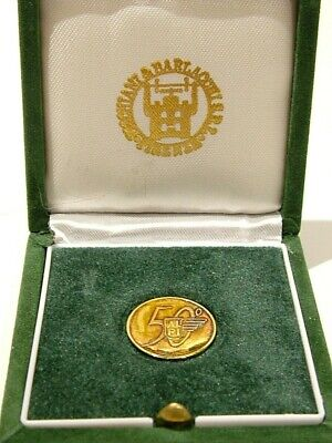 Albini Pitigliani Silver Gilt Cased Medallion Coin 50 Years 1945 -1995 (918)