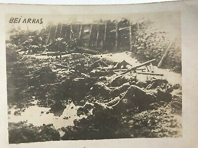 Antique Vintage Genuine Battle of Arras RPPC World War I Military Photograph