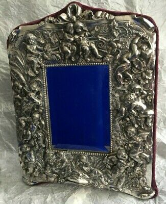 Victorian Style Cherub Sterling Silver Dressing Table Mirror