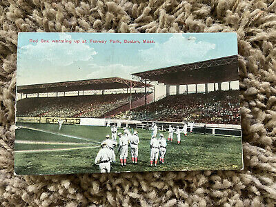 1913 Boston MA Fenway Park Red Sox Baseball Vintage Postcard Posted w/ 1¢ Stamp