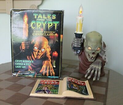 Tales From The Crypt Cryptkeeper Light Up Candelabra With Book & Box Works Great