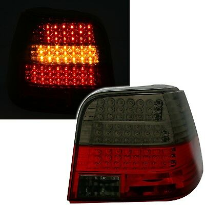 LED Rückleuchten Set in Rot Smoke für VW GOLF 4 Limo Heckleuchten LED Blinker