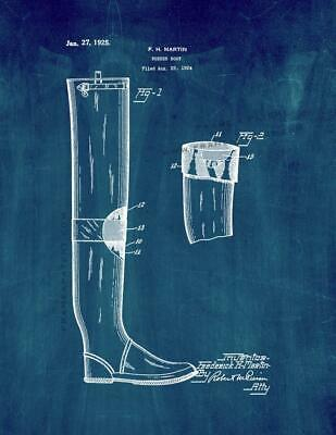 Rubber Boot Patent Print Midnight