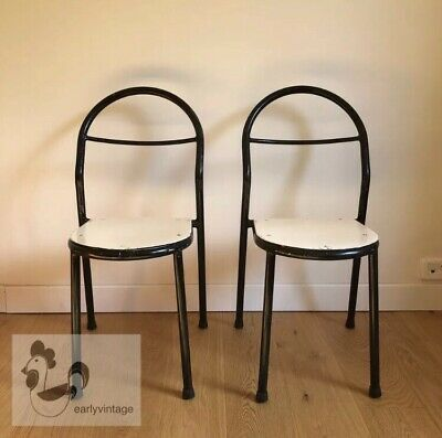 RENE HERBST MOBILOR 2 Chaises DESIGN Bauhaus French Vintage Chairs With Label