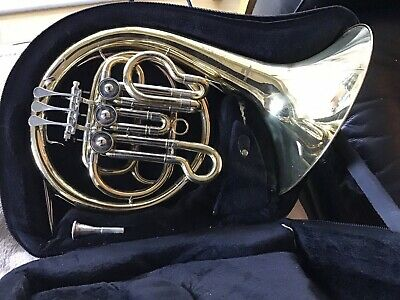 Packer The Hornblower Bb Single Mini French Horn + Case & Mouthpiece. Serviced.
