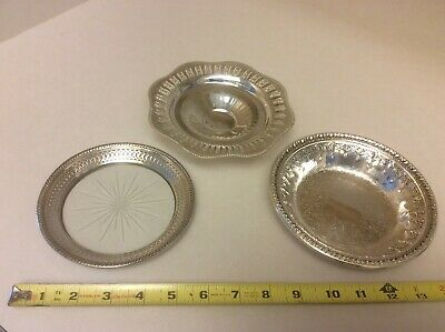 Vintage Lot of Silver Candy Dishes - Reed & Barton 1302, E.P. Copper (Canada)