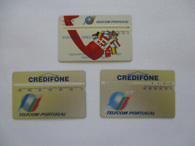 Portugal Phonecards - 3 x different optical cards in good used condition
