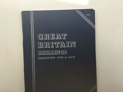 QEII Collection of Shilling Coins 1953-1966 in Whitman Folder