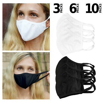 3, 6, 10 Pack high quality Face Masks washable reusable triple layer