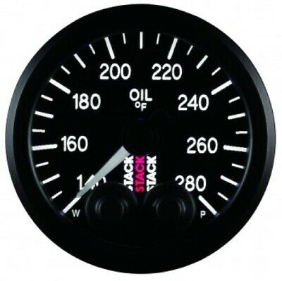Auto Meter ST3510 OIL TEMP, PRO-CONTROL, 52MM, BLK, 140-280 °FNEW