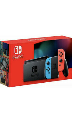 🔵Nintendo Switch 32GB 2 DAY SHIPPING! 📦V2 2020 Console Neon Red Blue Joy-Con