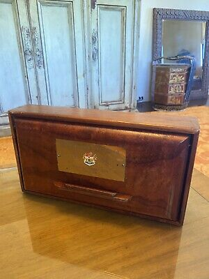 Vintage Hawaiian Koa Acacia Wood Box Waialae Country Club