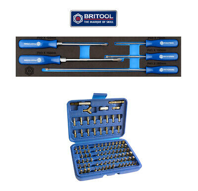 Phillips Ph Screwdriver Set + Free 100Pc Bit Set Britool Hallmark