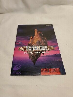 Brain Lord (Super Nintendo 1994) SNES Instruction Booklet Manual Only