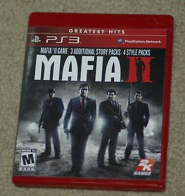 Mafia II 2 (Sony PlayStation 3) Cover Art, Manual & Game Case- No Game