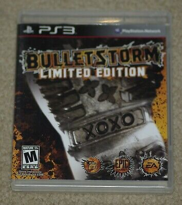 Bulletstorm:Limited Edition (PlayStation 3) Cover Art, Manual &  Case- No Game