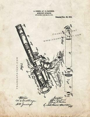 Microscope Patent Print Old Look