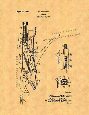 Wrench Patent Print Ancient Gold