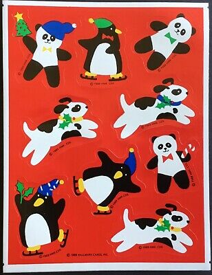 Vintage Stickers - Hallmark - Christmas - Dated 1989