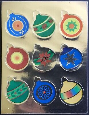 Vintage Stickers - Hallmark - Metallic - Christmas - Dated 1983