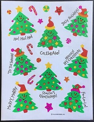 Vintage Stickers - Hallmark - Christmas - Mint Condition!!