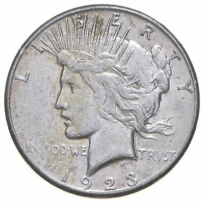 Early - 1923-S - Peace Silver Dollar - 90% US Coin *377