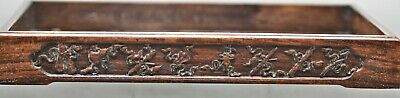 Antique Chinese Huanghuali Wood Scholar's Tray Hand Carved Motif