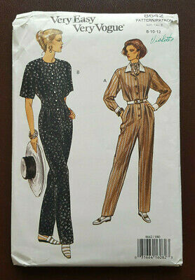 V-8642 Jumpsuit Sewing Pattern Vogue Size 8-10-12 Uncut