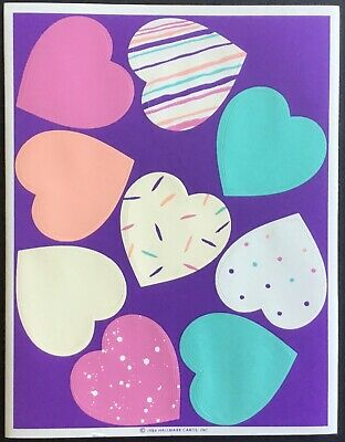 Vintage Stickers - Hallmark - Valentine's Day - Dated 1984