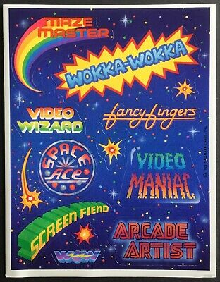 Vintage Stickers - Hallmark - Video Games - Dated 1983