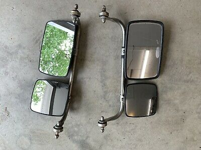 Vintage Ford Dodge Chevy Truck Van Sideview Tow Mirrors Pair