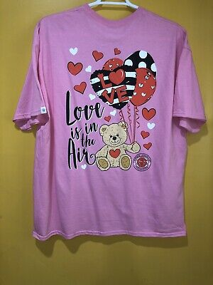Simply Southern Women's T Shirt Size XL Color Pink Short Sleeves Preppy Love Is