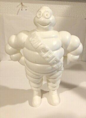 """VINTAGE 1981 PLASTIC MICHELIN MAN 12"""" Tall. Made in France"""