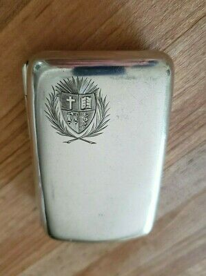 Antique Historic Sterling Silver Cigarette Case Box c. 1892 French Canadian
