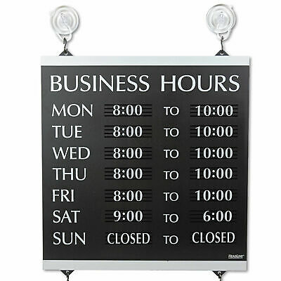 Open Business Hours Store of Operation Plastic 13x14 Hanging Suction Cups Window