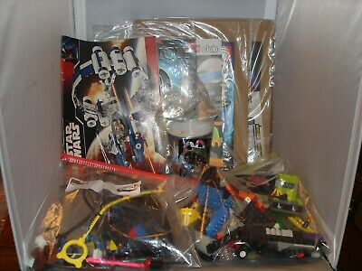 Lego and other stuff lot of random mixed parts and books, stickers,  Lot #10